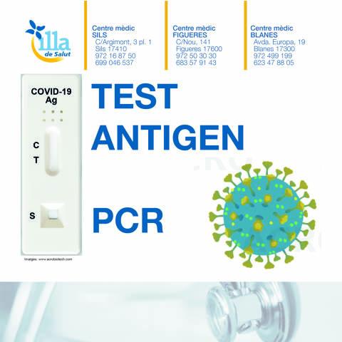 TEST DE ANTÍGENOS Y PCR